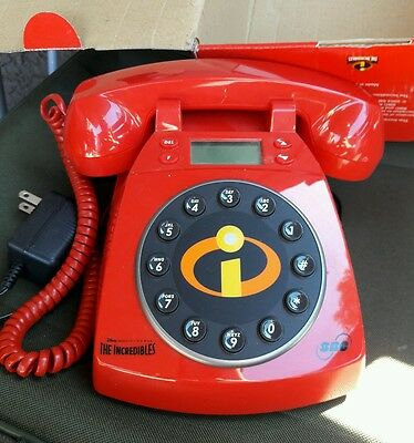Vintage Style Disney Pixar The Incredibles Collector 's Desk Phone Brand New