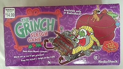 Vintage 2002 Dr. Seuss The Grinch Sleigh Game Toy by Radio Shack