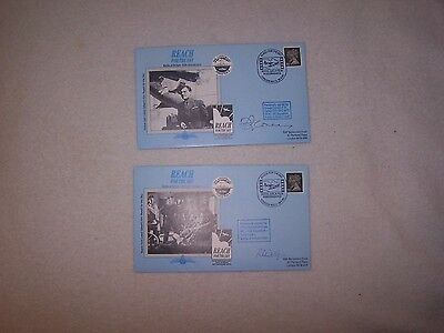 Reach For The Sky Battle of Britain  2 SIGNED COVERS CAREY, PHILLIPS RAF FUND