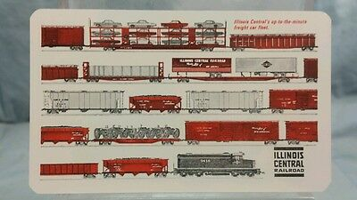Vintage Advertising Pocket Wallet Calendar Card: 1965 ILLINOIS CENTRAL RAILROAD