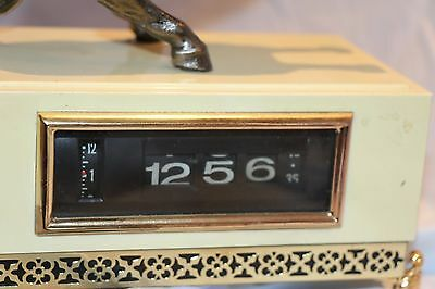 Vintage Flip Clock with Horse Made in Japan