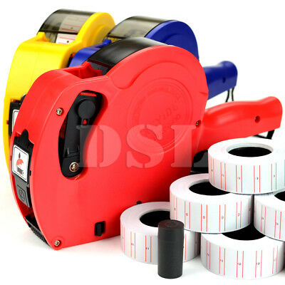 New Price Tag Gun Pricing Labeller +11 Label Rolls Sticker Spare Ink Shop Retail