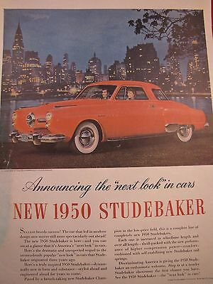 "LOT of 10 STUDEBAKER PRINT ADS 10"" x 13.75"" 1939 - 1951 Champion Truck COMMANDER"