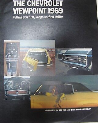 Automobile/Car Sales Brochure Catalog Showroom Advertising Chevrolet lineup 1969