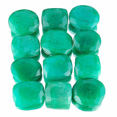 213 Cts/12 Pcs Natural Emerald Wholesale Ring Size Finest Green Gemstones