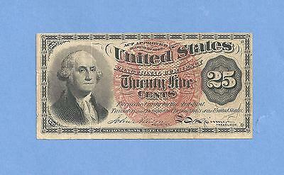FR 1301 - 25 Cents 4th Issue Fractional Currency Crisp Extra Fine