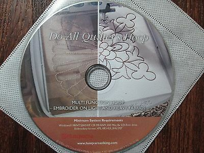 Husqvarna Viking Embroidery Cd Do All Quilters Hoop