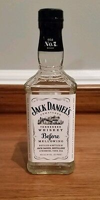 JACK DANIELS TENNESSEE WHISKEY BEFORE MELLOWING BOTTLE 0.375 LITERS, EMPTY, Rare