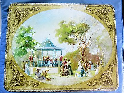 Vintage ARNOTTS BISCUIT TIN Picturesque series Bandstand in Park