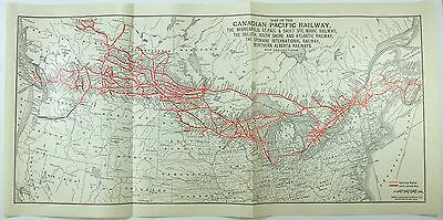 Original 1938 Map of the Canadian Pacific Railway
