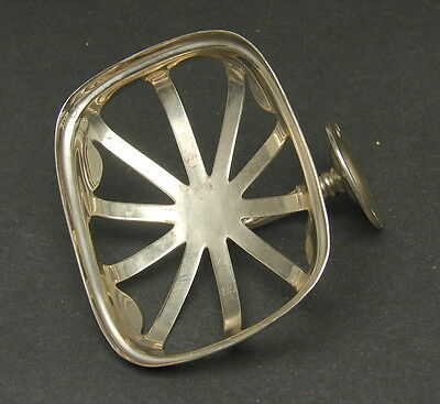 Antique Vtg Nickel Plated Brasscrafters Bathroom Soap Sponge Dish Wall Mount (a)