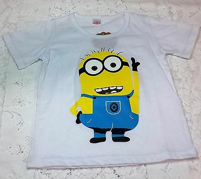 Boys Minions Short Sleeve T Shirt White 5 Everyday Wear
