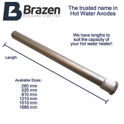 NEW Hot Water Anode / Sacrificial Rods Magnesium Straight Size Heater