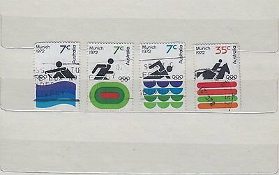 Olympic Games Munich 1972, Complete Set of 4 stamps