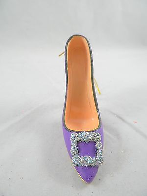 Purple High Heel with Silver Buckle Christmas Tree Ornament new holiday