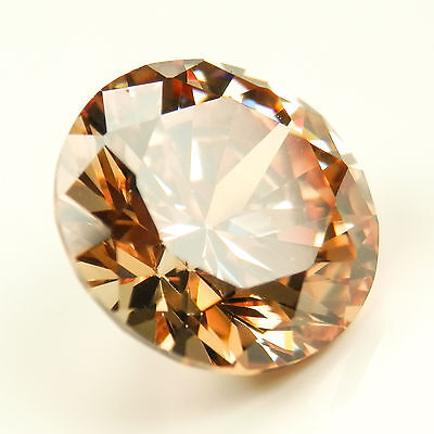 2.75 Ct ROUND CUT Champagne My Russian Diamond Lab Created Simulated Loose Stone