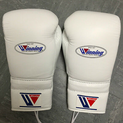 WINNING BOXING - 16oz - WHITE - Professional Sparring Gloves - Grant Reyes