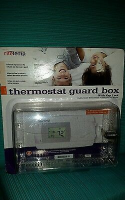 Ritetemp #6001 Thermostat Guard Box With Key Lock Brand New In Original Package