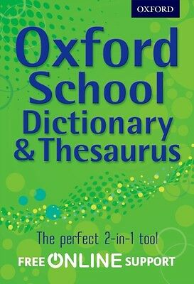 Oxford School Dictionary & Thesaurus (Hardcover), Oxford Dictionaries, 97801927.
