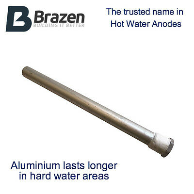 """Hot Water Heater Anode / Sacrificial Rod for """"Hard Water"""" 6 Sizes"""