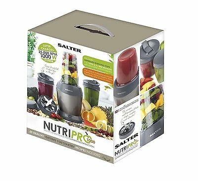 Salter Nutri Pro 1000W Nutrient Extractor Blender with 1 Litre Capacity – Silver