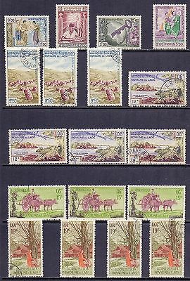 Laos. 18 mint and used stamps issued 1959 and 1960