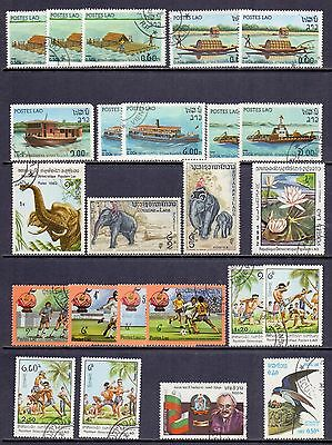 Laos. 24 mint and used stamps issued 1982