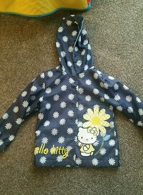 Girls showerproof Hello Kitty coat 3-4 years