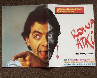 Rowan Atkinson .The New Review Theatre Brochure 1986 . Rare!!