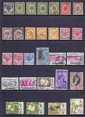 Malaysian States - Kedah. 29 mint and used stamps issued 1950 to 1986