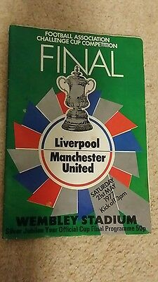 1977 FA cup final programme