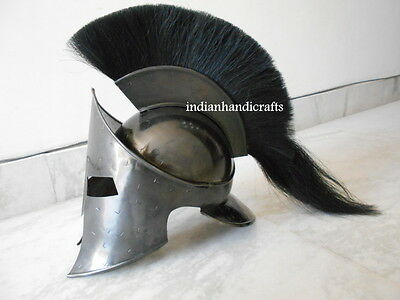 300 Spartan Movie Black Antique Fniesh Leonidas 300 Spartn Helmet Black Plum