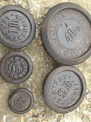 Antique Scale Weights Wolverhampton Avery Cast Iron