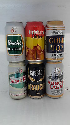 6 Different Heritage Release Beer Cans