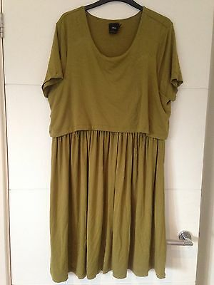 ASOS Olive Green Nursing Dress - Size 18