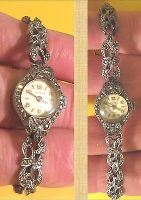 Vintage 17 Jewel Systema Marcasite Analogue Mechanical Watch (Parts/repairs)
