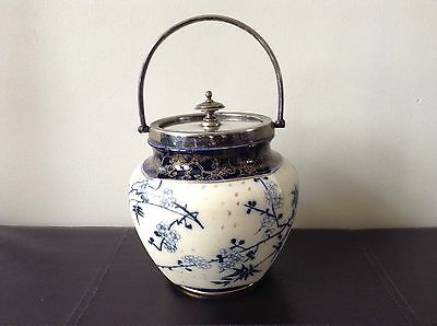 Lovely Antique Doulton Burslem  Biscuit Barrel / Cookie Jar Rare Collectable