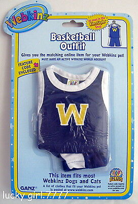 Webkinz Clothing Cute BASKETBALL Basket Ball Outfit w/code Factory Seal FREE SHP