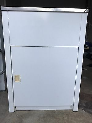 Unwanted White Laundry Stainless Steel Trough With Cabinet