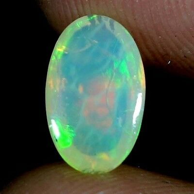01.25Cts. 100% NATURAL MULTI COLOR FIRE ETHIOPIAN OPAL OVAL CABOCHON GEMSTONES