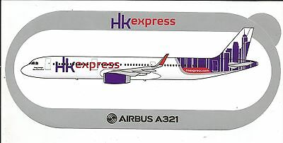 NEW AIRBUS STICKER NOUVEAU AUTOCOLLANT A321 Hong Kong Express Airways - NEUF