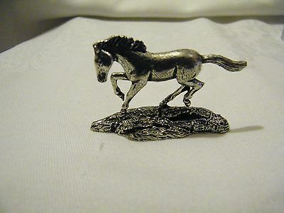 Horse Miniature Pewter Sculpture By A R Brown