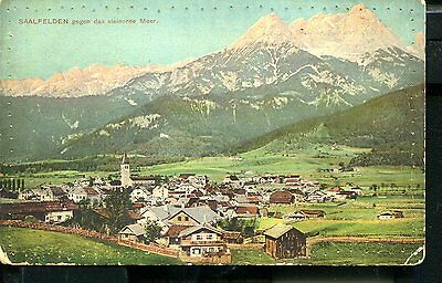 Austria Saalfelden Wwi Censored Postcard