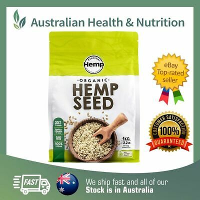 Australian Certified Organic Hemp Seeds - All Sizes + Free Shipping