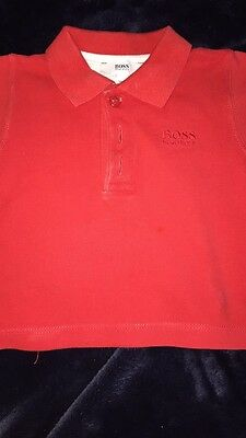 baby boy red hugo boss polo age 3 months
