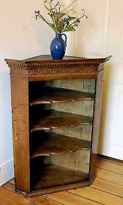Antique Oak Corner Cabinet