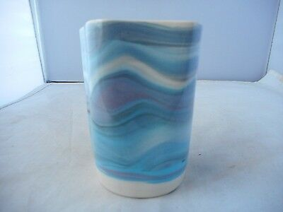 SMALL FIVE SIDED HEBRIDEAN POTTERY VASE(8.75cms high)