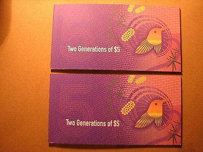 2016 Two Generations of $5 Polymer Banknote Folder - Old & New Uncirculated.