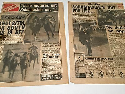 "1961 ""the Sun"" 2 Part Pages  Mel Schumacher Out For Life"