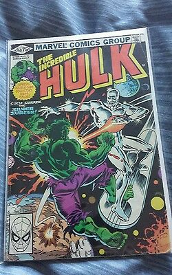 Incredible hulk 250 giant size vs the silver surfer